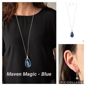 Maven magic blue necklace